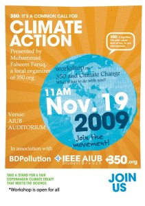 Workshop on 350 and Climate Change: What it has to do with you?