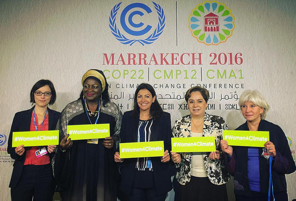 Women in Climate Change, COP22 Photo Courtesy: Global Taskforce of Local and Regional Governments